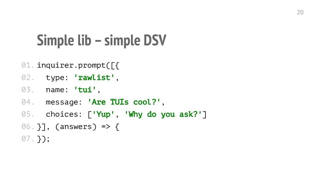 Simple lib – simple DSV i n q u i r e r . p r o...