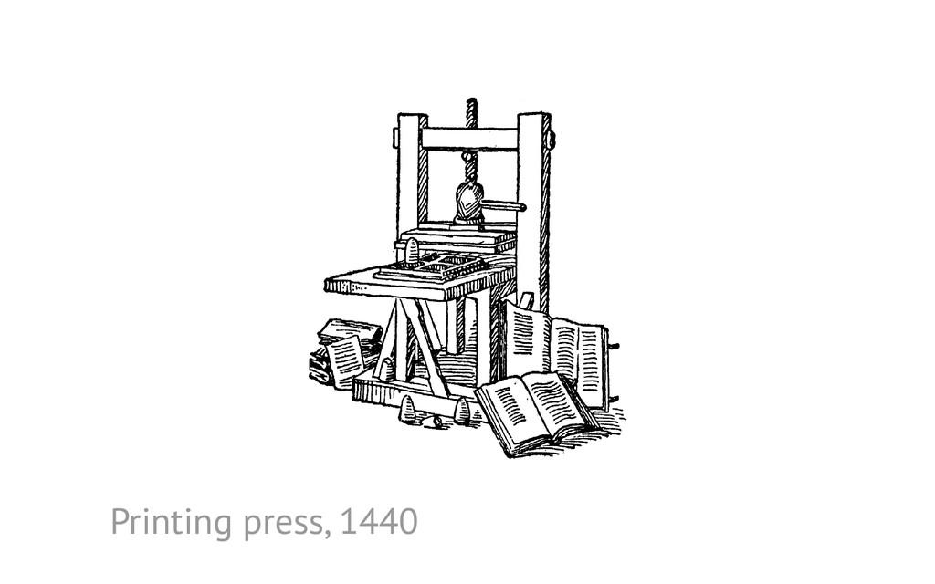 Printing press, 1440