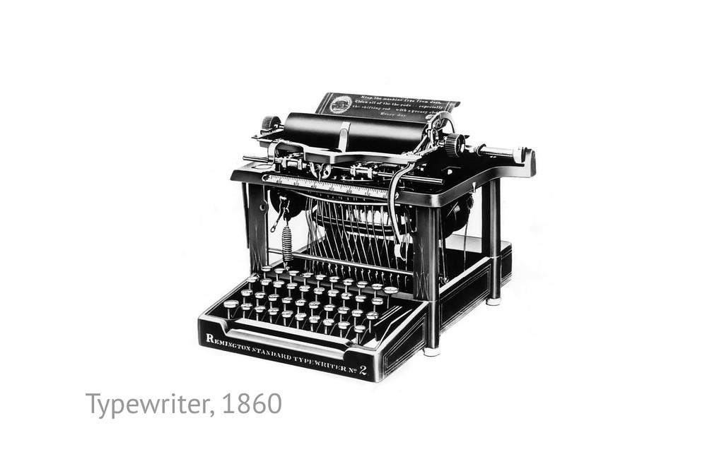 Typewriter, 1860