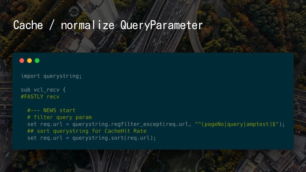 Cache / normalize QueryParameter