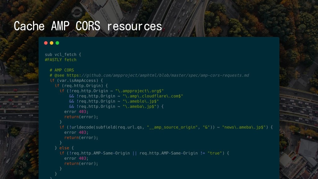 Cache AMP CORS resources