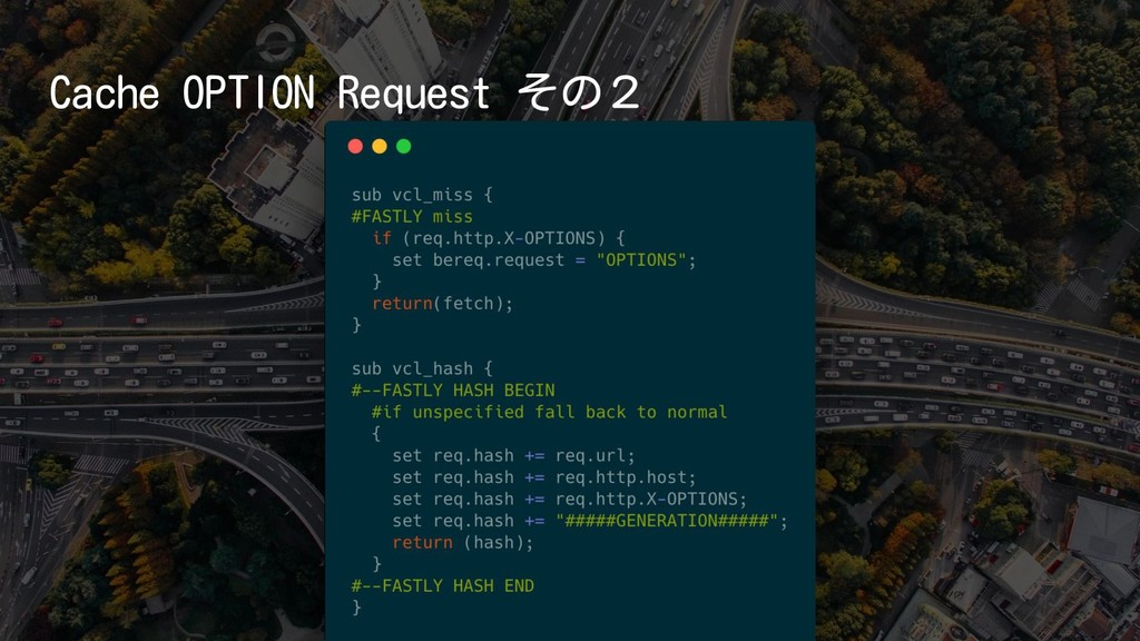 Cache OPTION Request その2