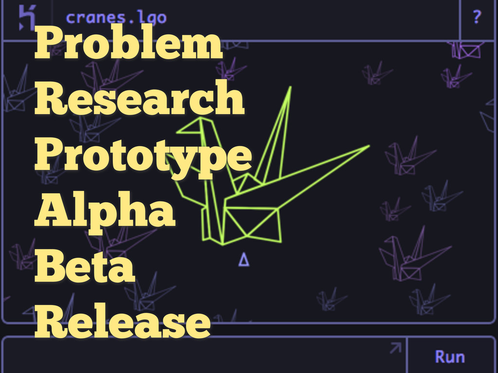 Problem Research Prototype Alpha Beta Release