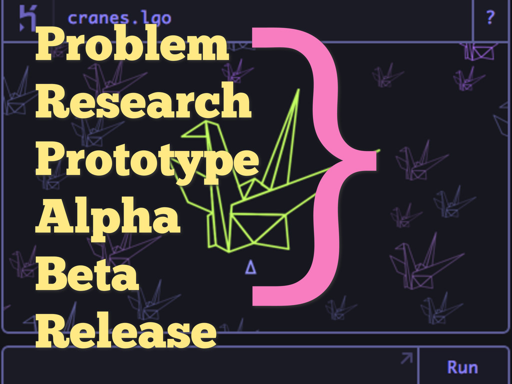 Problem Research Prototype Alpha Beta Release }