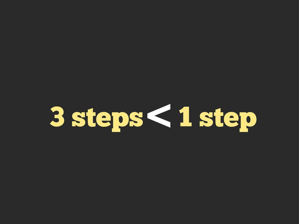 3 steps 1 step <