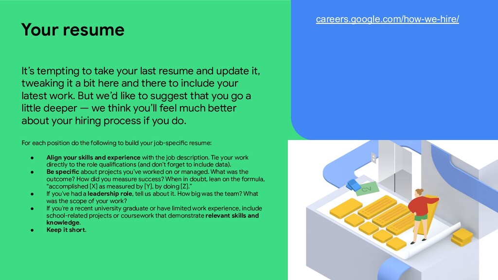 It's tempting to take your last resume and upda...