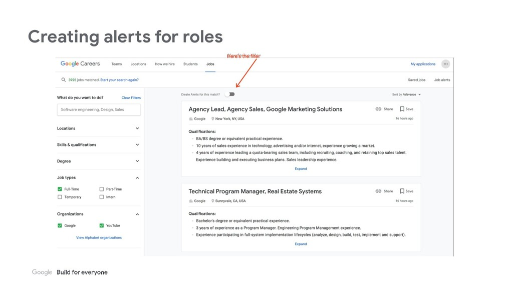 Creating alerts for roles