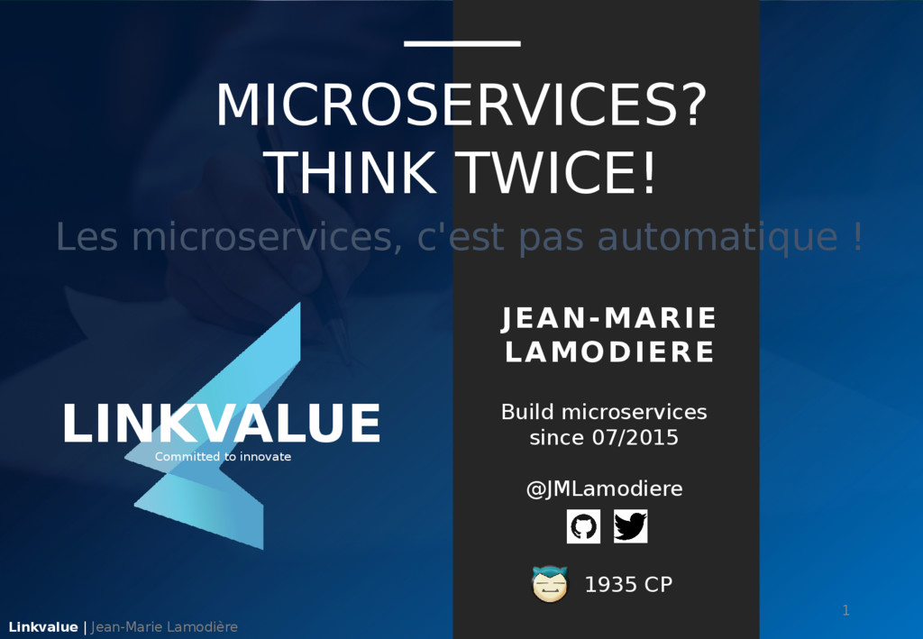 JEAN-MARIE LAMODIERE Build microservices since ...