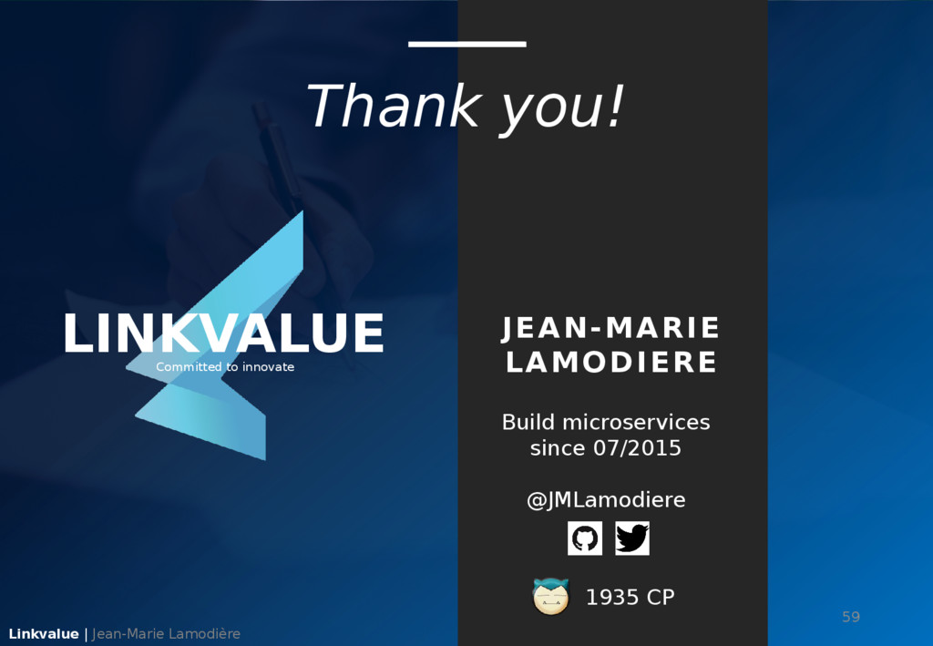 Thank you! Linkvalue | Jean-Marie Lamodière 59 ...