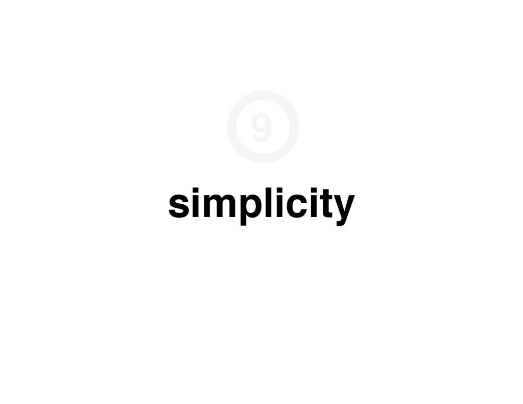 simplicity 9