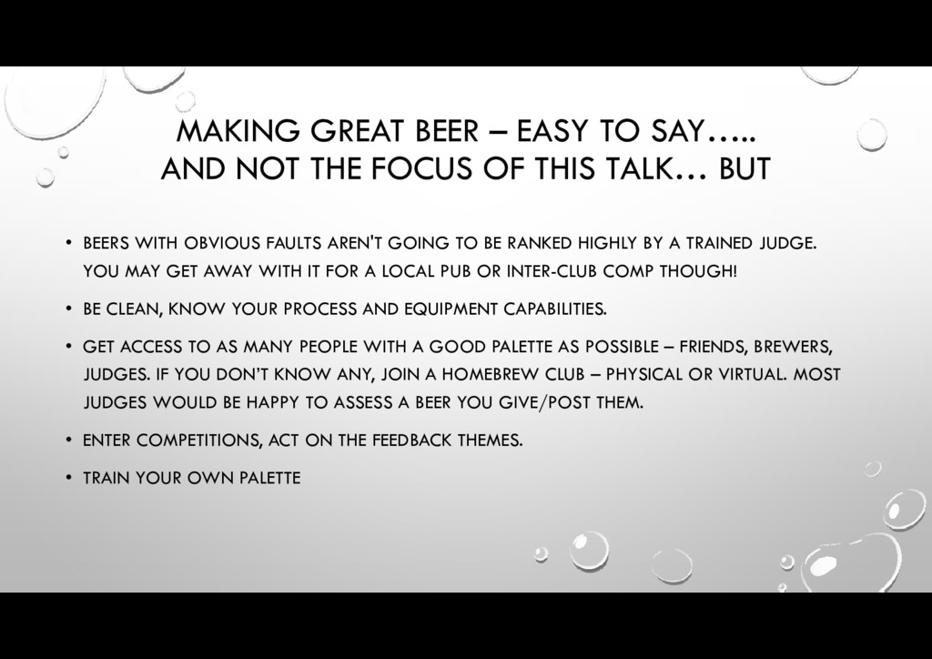 MAKING GREAT BEER – EASY TO SAY….. AND NOT THE ...