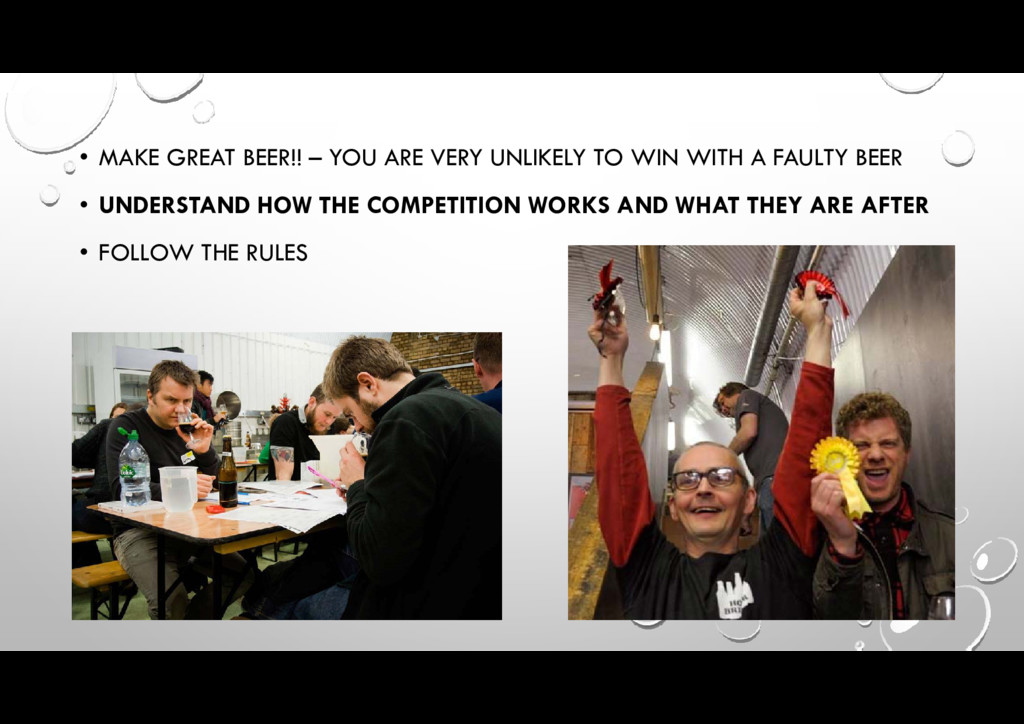 • MAKE GREAT BEER!! – YOU ARE VERY UNLIKELY TO ...