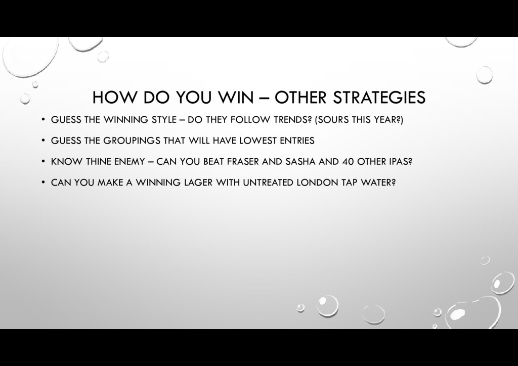 HOW DO YOU WIN – OTHER STRATEGIES • GUESS THE W...