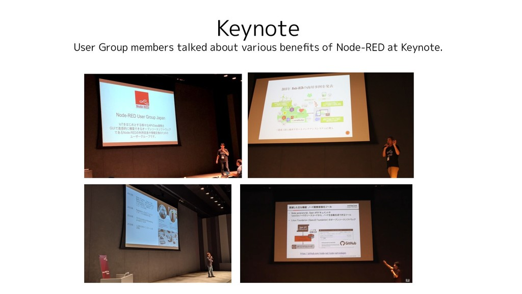 Keynote User Group members talked about various...