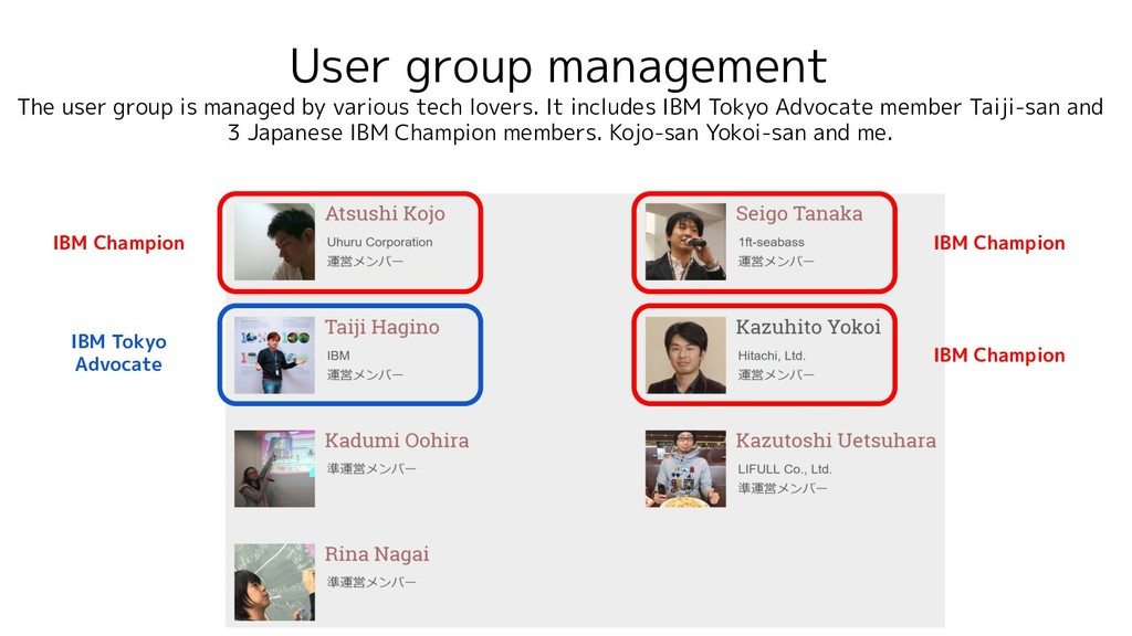 User group management The user group is managed...