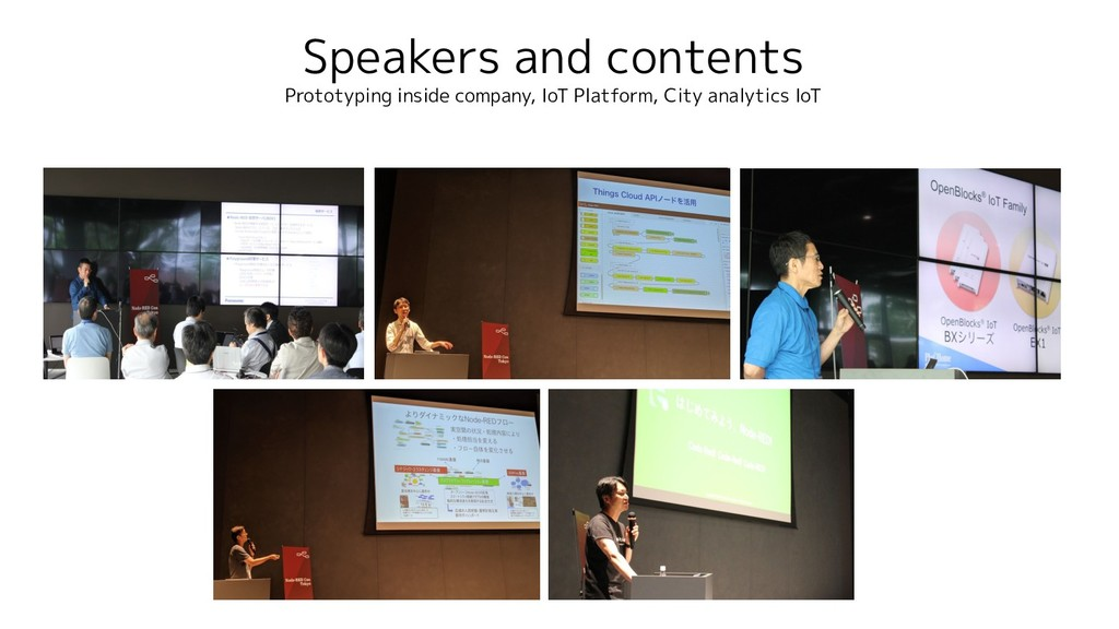 Speakers and contents Prototyping inside compan...