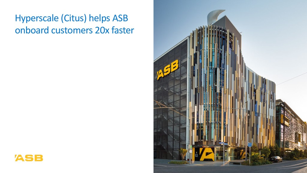 Hyperscale (Citus) helps ASB onboard customers ...