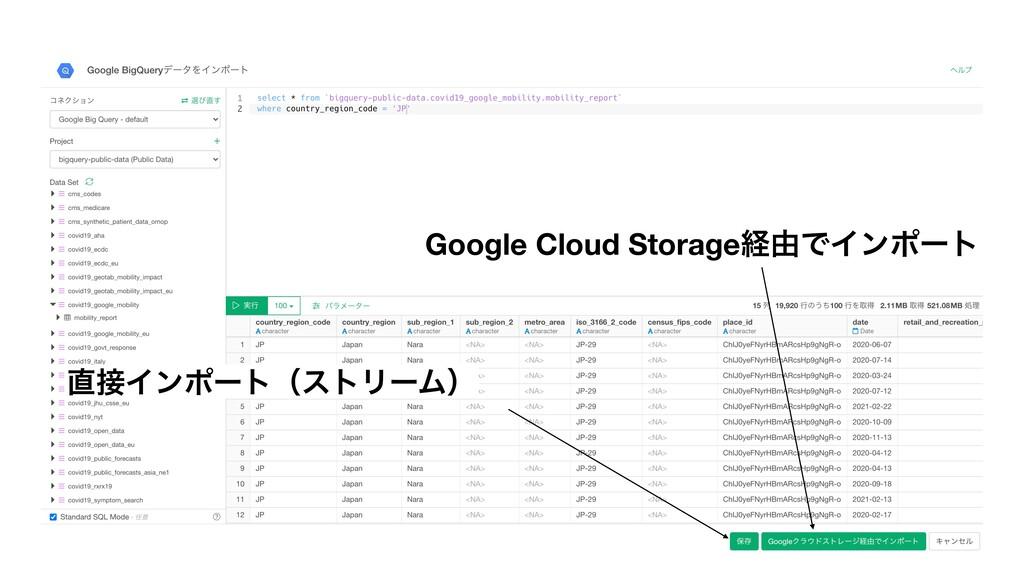 ΠϯϙʔτʢετϦʔϜʣ Google Cloud Storageܦ༝ͰΠϯϙʔτ