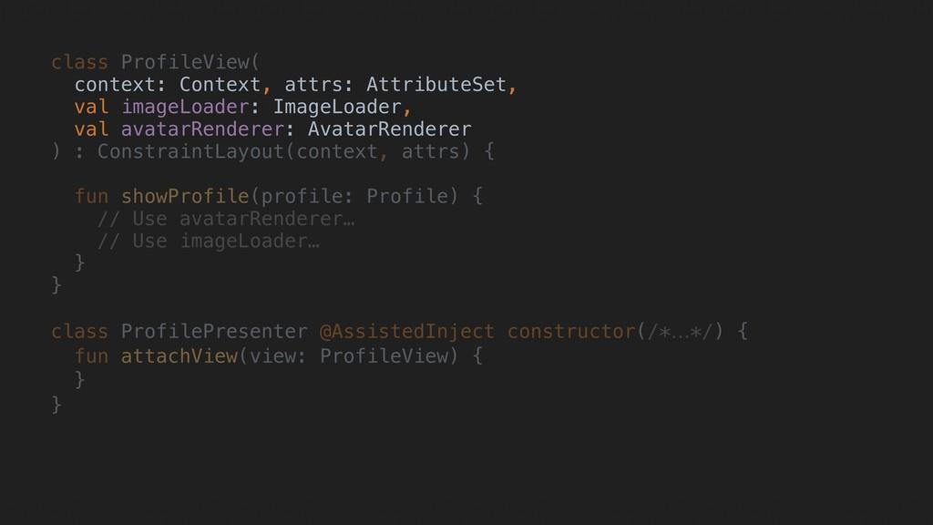 class ProfileView( context: Context, attrs: Att...