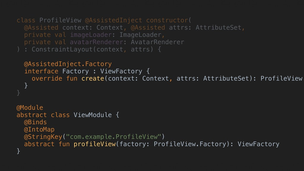 class ProfileView @AssistedInject constructor( ...