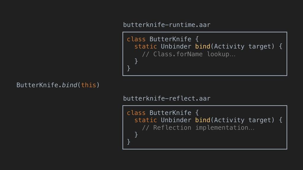 ButterKnife.bind(this) class ButterKnife { stat...