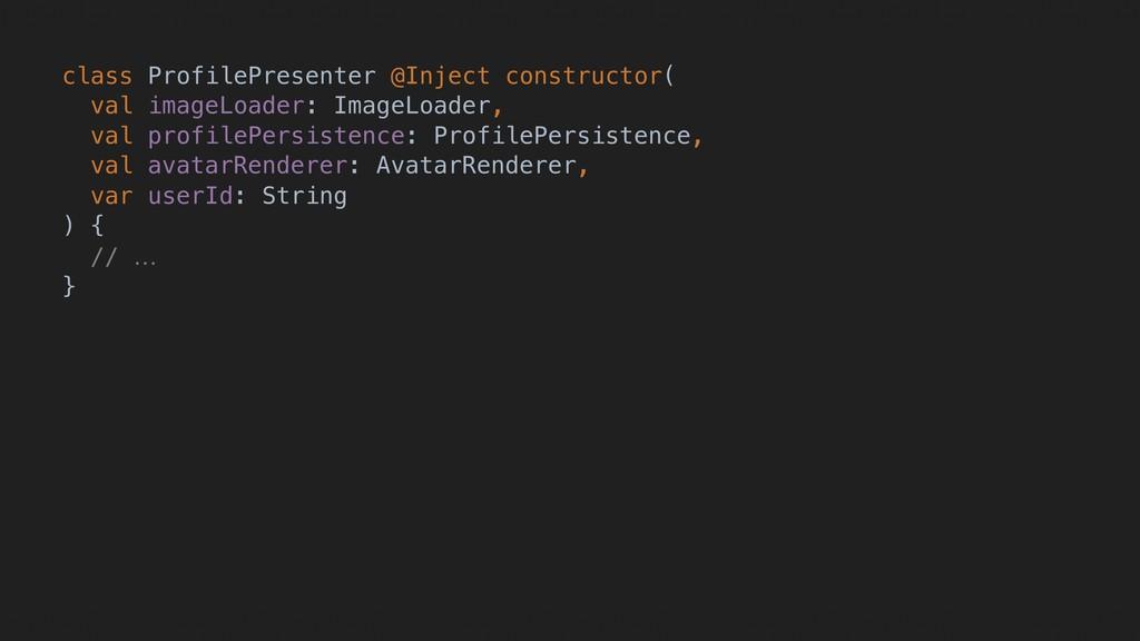 class ProfilePresenter @Inject constructor(A va...