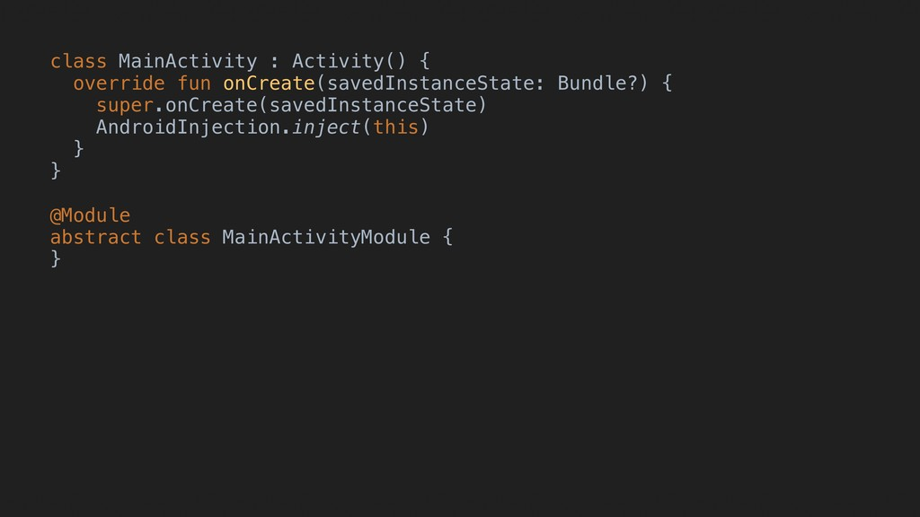 class MainActivity : Activity() { override fun ...