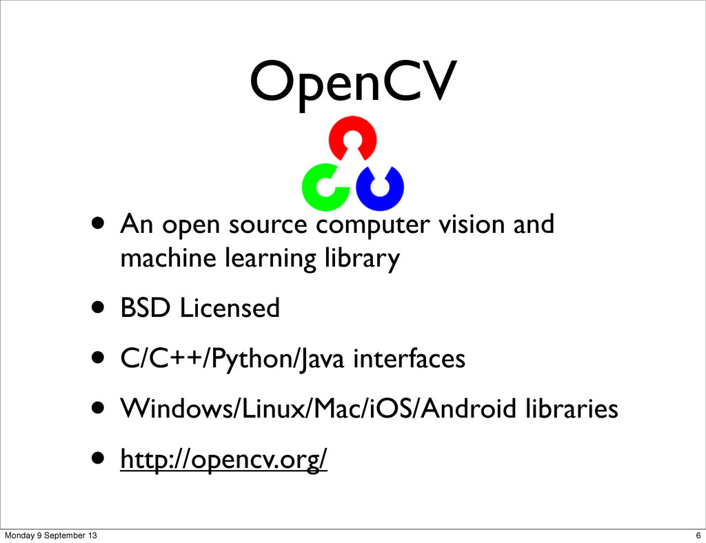 OpenCV • An open source computer vision and mac...