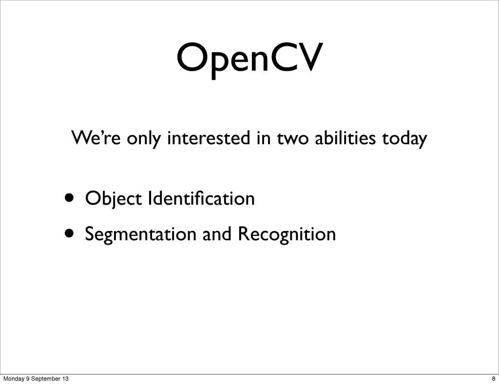 OpenCV • Object Identification • Segmentation an...