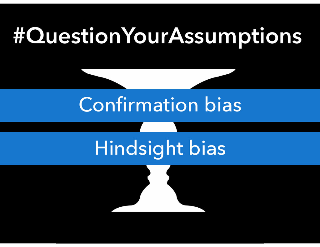 #QuestionYourAssumptions Confirmation bias Hinds...