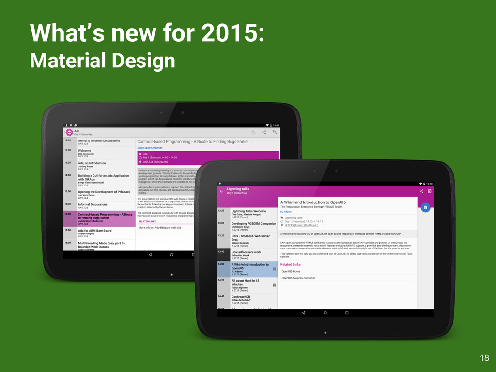 What's new for 2015: Material Design 18