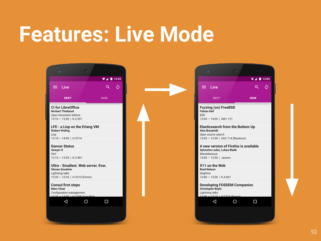 Features: Live Mode 10