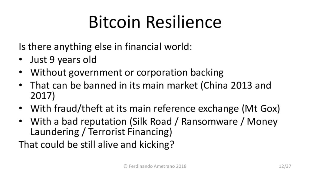 Bitcoin Resilience Is there anything else in fi...