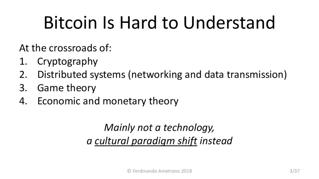 Bitcoin Is Hard to Understand At the crossroads...