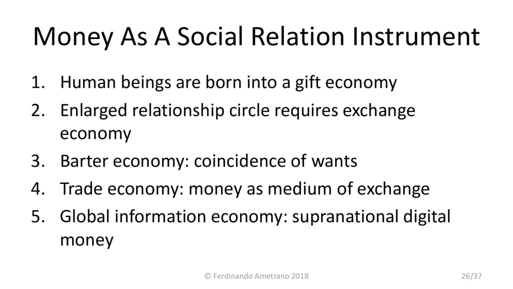 Money As A Social Relation Instrument 1. Human ...