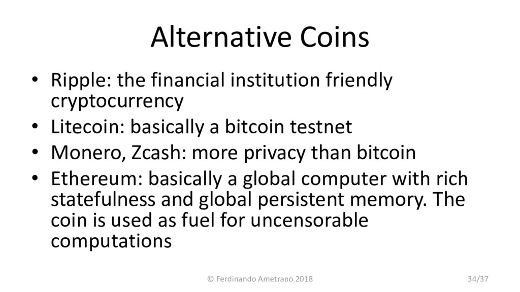 Alternative Coins • Ripple: the financial insti...