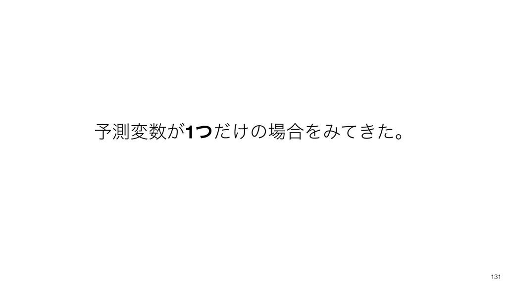 131 ༧ଌม͕1͚ͭͩͷ߹ΛΈ͖ͯͨɻ