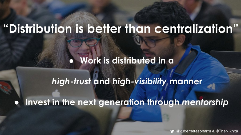 """""""Distribution is better than centralization"""" ● ..."""