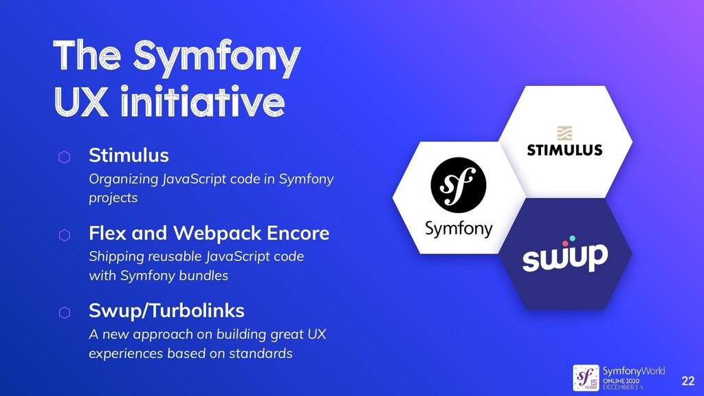 The Symfony UX initiative ⬡ Stimulus Organizing...