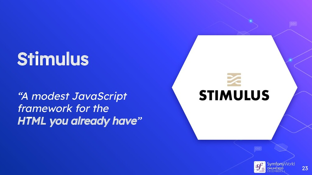 "Stimulus ""A modest JavaScript framework for the..."