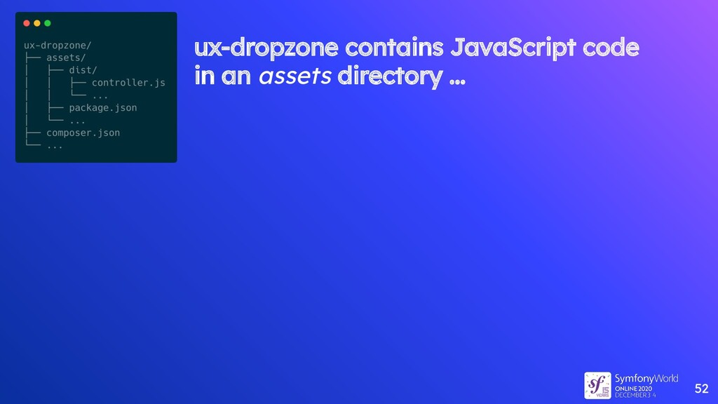 52 ux-dropzone contains JavaScript code in an a...
