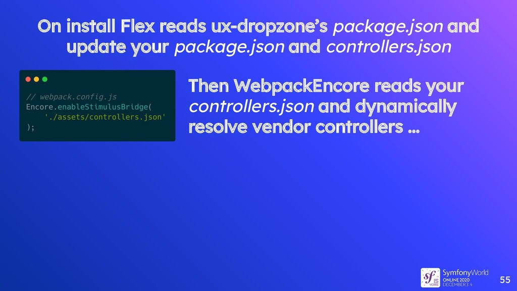 55 On install Flex reads ux-dropzone's package....