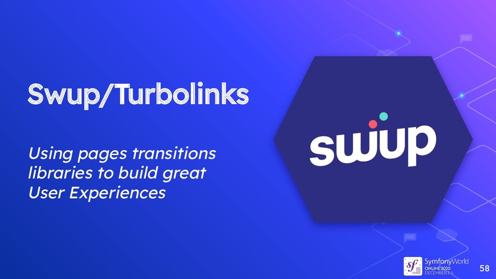 Swup/Turbolinks Using pages transitions librari...