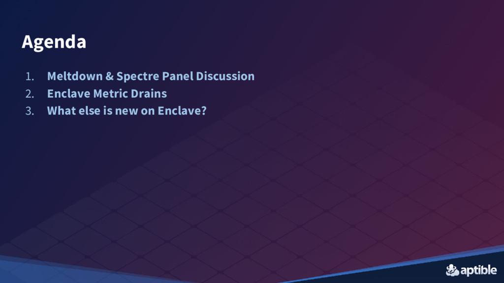 1. Meltdown & Spectre Panel Discussion 2. Encla...