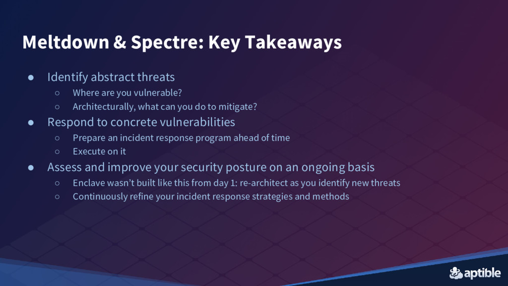 ● Identify abstract threats ○ Where are you vul...