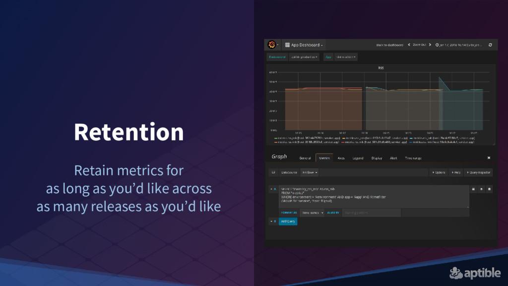 Retention Retain metrics for as long as you'd l...