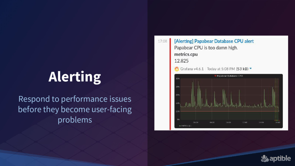 Alerting Respond to performance issues before t...