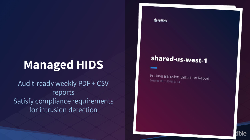 Managed HIDS Audit-ready weekly PDF + CSV repor...