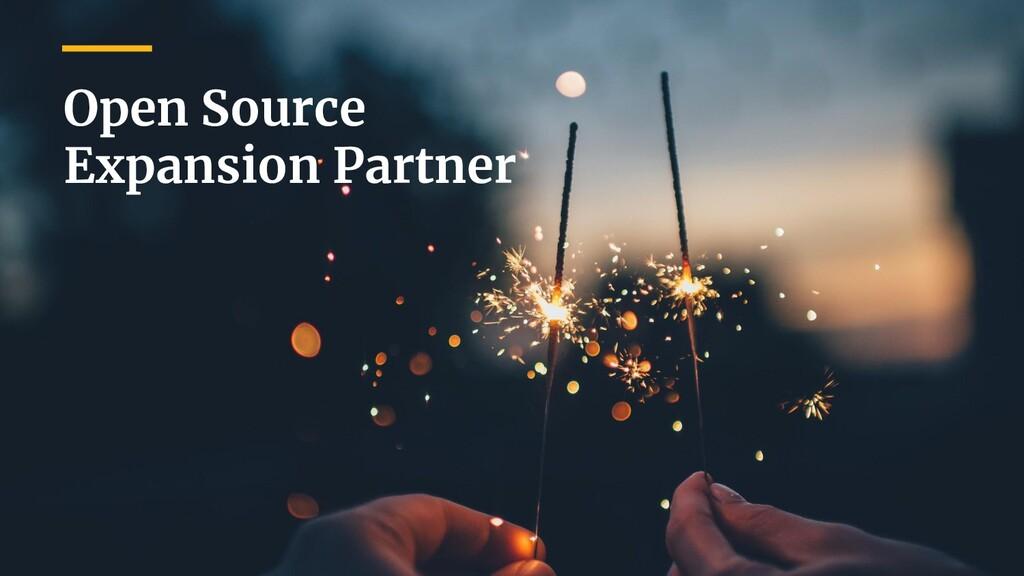 Open Source Expansion Partner