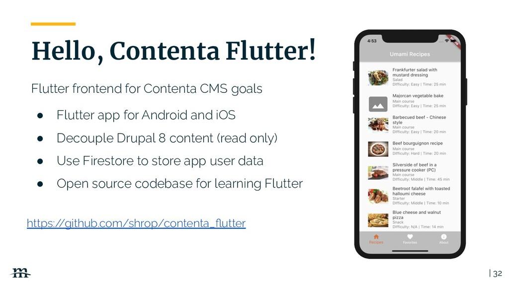 Flutter frontend for Contenta CMS goals ● Flutt...